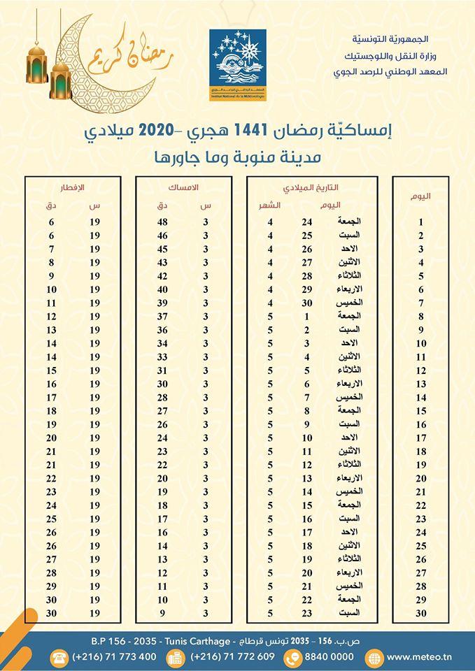 Calendrier Ramadan 2020: horaires de l'Imsak et de l'Iftar dans le