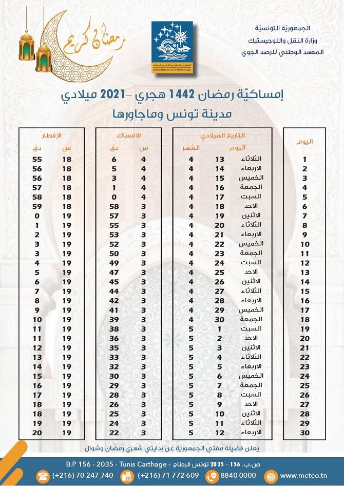 Calendrier Ramadan 2022 Horaire Calendrier Ramadan 2021: horaires de l'Imsak et de l'Iftar dans le